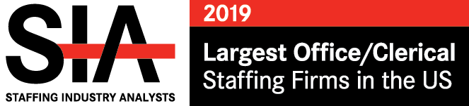2018 Staffing Industry Analyst Largest Office/Clerical Staffing Firms US badge